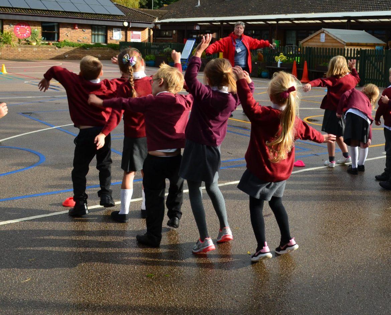 Rydon Primary School's PE visit