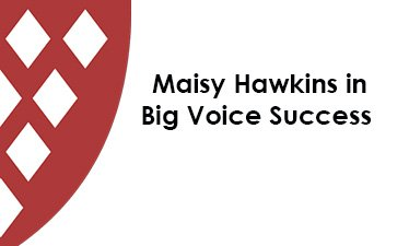 Maisy Hawkins in Big Voice Success – Kingsbridge Community College