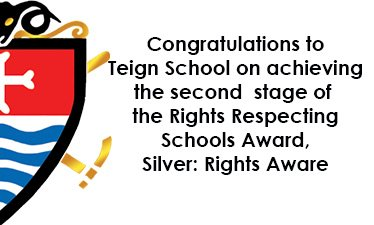 Rights Respecting Schools Silver Award for Teign School