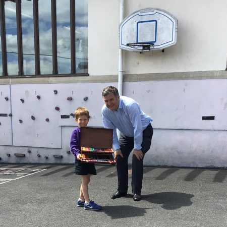 MP Mel Stride Visits Christow Community Primary School