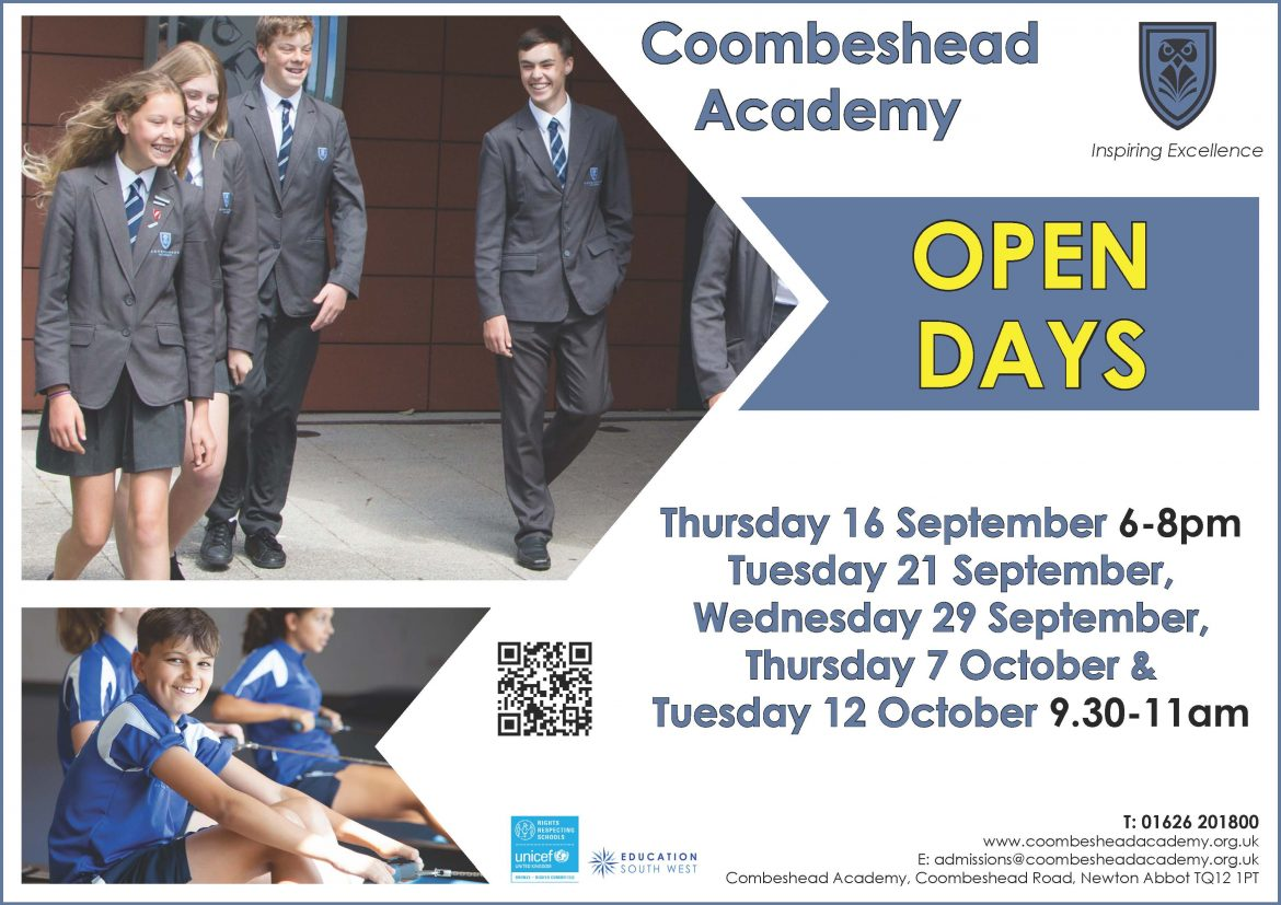 Coombeshead Academy – September 2021 Open Days
